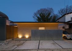 CASE649 光の通り道 Entrance Lighting, Arch House, Cafe House, Japanese Modern, Modern Contemporary Homes, One Story Homes, Japanese Architecture, Random House, Story House