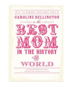Personalized Best Ever: Begonia - 24 Unique Mother's Day Cards