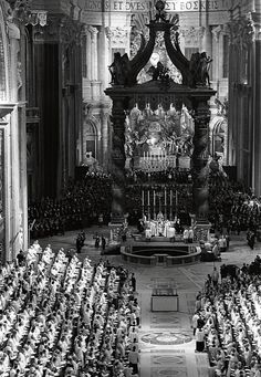 loveroftradition:  shanahanthegael:  hadrianestou:  The opening ceremony of the Second Vatican Council on 11 October 1962.   The beginning of the end…. NAW I'm just kiddin'  Think again, my friend….