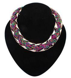 F&U N011 N012 new fashion Bohemian style Punk Fashion Simple Metal braid Twist Chain necklaces & pendants woman's Necklace
