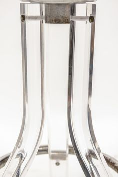 1stdibs.com | Pair of Vintage Lucite and Zebra Hide Barstools