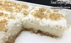 Hindistan Cevizli Etimek Tatlısı Tarifi Easy Cake Recipes, Dessert Recipes, Flan, Mousse Au Chocolat Torte, Far Breton, Jello Desserts, Turkish Kitchen, Food Words, Pastry Cake