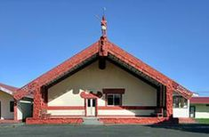 I originally represented this as the school at Nuhaka, but then started looking for other images. This is a very large meeting house, and magnificently carved. The school is on the same grounds Holiday Park, New Zealand, Gazebo, Places To Visit, Carving, Outdoor Structures, House Styles, Photographs, School