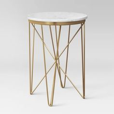 Marble Top Round Table Gold – Project 62 - New Site Marble End Tables, Small End Tables, Sofa End Tables, Coffee Tables, Navy Furniture, Accent Furniture, Furniture Decor, Living Room Furniture, Space Furniture