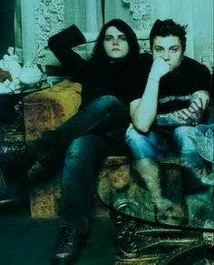 frerard with some kinda green filter