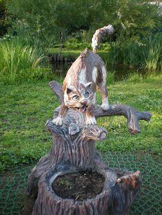 Скульптуры кошек