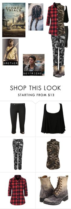 """Me in Scorch Trials"" by bubble-loves-you ❤ liked on Polyvore featuring Paul Brodie, adidas, WithChic, Bardot and Frye"