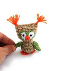 $29.64 miniature owl doll, little #owl, chrocheted mini owl, owl lovers gift, amigurumi owl, small owl, owl #party, keepsake first #birthday, tiny owl, handmade gift by crochAndi