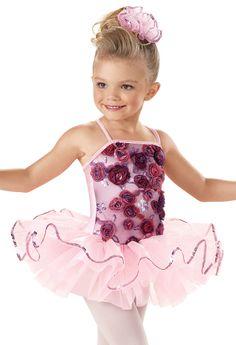 Pink Floral Sequin Tutu Dress -Weissman Costumes