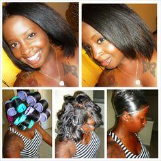19 Best Roller Wraps Images On Pinterest Natural Hair Natural