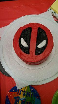 Deadpool cake I made for Ethan's 11th birthday!