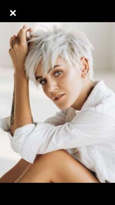 You are in the right place about trendy short grey hair Here we offer you the mos Pixie Haircut For Thick Hair, Short Choppy Hair, Short Grey Hair, Short Thin Hair, Short Hair With Layers, Short Hair Cuts For Women, Short Hair Styles, Funky Short Hair, Undercut Hairstyles