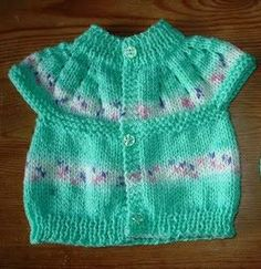 marianna's lazy daisy days: All-in-one Knitted Baby Tops free pattern great for . : marianna's lazy daisy days: All-in-one Knitted Baby Tops free pattern great for charity knitting Baby Cardigan Knitting Pattern Free, Baby Knitting Patterns, Baby Patterns, Cardigan Pattern, Crochet Patterns, Knit Cardigan, Knitting For Charity, Knitting For Kids, Free Knitting