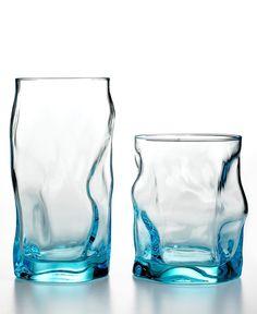 Closeout! Bormioli Rocco Glassware, Set of 4 Sorgente Blue Highball Glasses