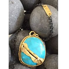 Loving this turquoise wrapped in 22K gold #goldenjoinery #kintsugi #mendingfracturedstones #opportunities #vegasbound #coutureready #cjdgjewelers