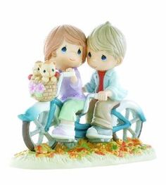 "Wedding anniversary gifts:Precious Moments- ""All For The Love Of You On A Bicycle Built For Two"" Figurine"