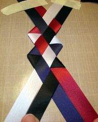How to make a cool braid for mums!  Homecoming mum braids 015