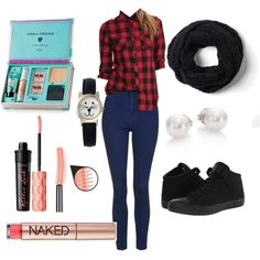 Untitled #114 by fashionxstuff on Polyvore featuring polyvore мода style Topshop Converse Mikimoto Geneva Benefit Urban Decay