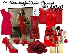 Wear Red for Love in the New Year's eve  NYE red dress
