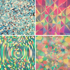 """In case you were wondering what """"Geometric Retro Grunge"""" looked like."""