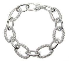 Product image of Judith Ripka Sterling Textured Link Bracelet