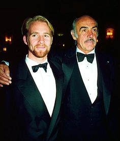 Jason Connery with his dad Sean Connery