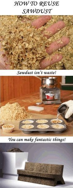 How to reuse sawdust Don't throw away your sawdust! Sawdust has many useful applications! Check them out in the article! The post How to reuse sawdust appeared first on Woodworking Diy. Carpentry Projects, Easy Woodworking Projects, Popular Woodworking, Diy Wood Projects, Fine Woodworking, Wood Crafts, Woodworking Furniture, Woodworking Techniques, Youtube Woodworking