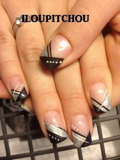 # gelnagels # nagelontwerp # nagels ontwerp # nail art # mooie nagels # nagel in . Ongles Gel French, French Manicure Nails, French Nail Art, French Tip Nails, French Tips, Nail Tip Designs, Fingernail Designs, Gel Nail Art, Acrylic Nails