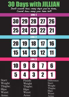 30 Day shred calender