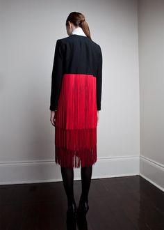 Wool Fringe Coat   Amanda Deleon   Shop   NOT JUST A LABEL