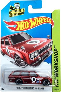 '71 Datsun Bluebird 510 Wagon Hot Wheels 2014 Super Treasure Hunt - HWtreasure.com