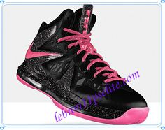 LeBron X PS Elite Nike Lebron James Shoes Anthracite Think Pink