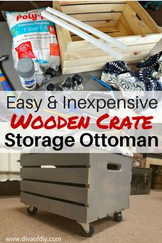 crate projects - how to make a storage ottoman