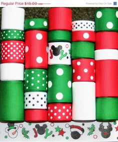 FALL SALE Grosgrain Ribbon Lot MIx 25YDS by FaithRibbonsDotCom