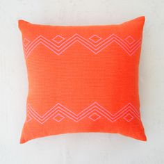 Lantana Pillow - from Bolé Road Textiles - orange and pink - handwoven in Ethiopia