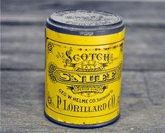 Early 20th century unopened P. Lorillard Scotch Salt Snuff Advertising Tin                                         ****