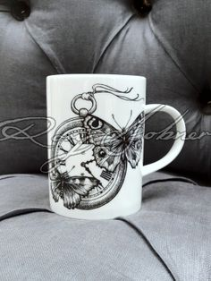 Time Flies mug by Rory Dobner