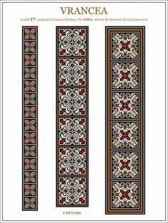 Iie (traditional romanian blouse) from Vrancea (Vidra) embroidery pattern Embroidery Motifs, Cross Stitch Embroidery, Cross Stitch Patterns, Loom Beading, Beading Patterns, Cross Stitch Freebies, Embroidery Techniques, Cross Stitching, Needlework