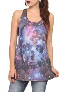 Amazon.com: Galaxy Skull Girls Tank Top: Clothing