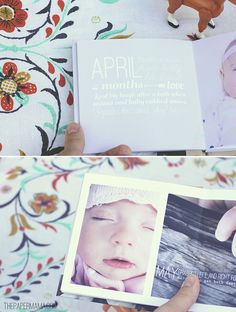 Ruari's first year book by The Paper Mama, via Flickr - so beautiful!