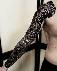Japanese tattoo sleeve by @freddyleo.zenkustudio. #japaneseink #japanesetattoo #irezumi #tebori #bngink #blackandgrey #blackandgreytattoo #cooltattoo #largetattoo #armtattoo #tattoosleeve #flowertattoo #chrysanthemumtattoo #blackwork #blackink #blacktattoo #wavetattoo #naturetattoo