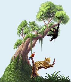 Jungle Moss Tree Mural to make a fantastic wild jungle theme room with removable peel & stick jungle moss tree. Moss Tree Mural Monkey Mural Decal ,On a x print size. Jungle Tree, Jungle Room, Jungle Bathroom, Bathroom Mural, Jungle Nursery, Nursery Room, Baby Room, Kids Room Murals, Murals For Kids