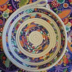 Partial wrapped ropebowl. #ropebowls #handmade #fabricwrapped #decor #petuniablossom