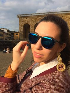 Sunglasses and lurex #earrings by Fibrae Bijoux