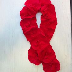 Fabric Flower Scarf for M