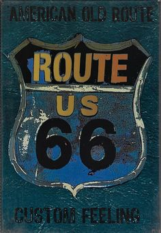 Route 66, Metal Plaque, Style Vintage, Decoration, Feelings, Poster, Art, Products, Home Decoration