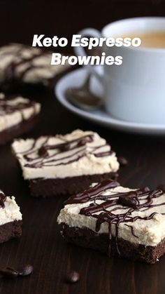 Low Carb Desserts, Healthy Desserts, Easy Desserts, Low Carb Recipes, Banting, Lchf, Sweets Recipes, Brownie Recipes, Keto Bars