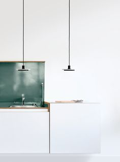 Calcite is a collection of minimal pendant and floor lamps created by London-based designer Romain Voulet. Ligne Roset, Floor Lamp, Light Up, Minimalism, House Design, Ceiling Lights, Salad Bar, Interior Design, Pendant