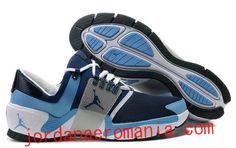 Acheter Chaussures Jordan Alpha Trunner-Blanc/University Bleu-Stealth |JordanAeroMania.com