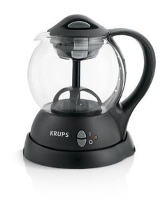 KRUPS FL7018 Personal Tea Kettle with integrated infusion basket for loose tea leaves and tea bags, Black